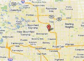 Troy Michigan Map by Peak Performers Contact Directions Amp Map