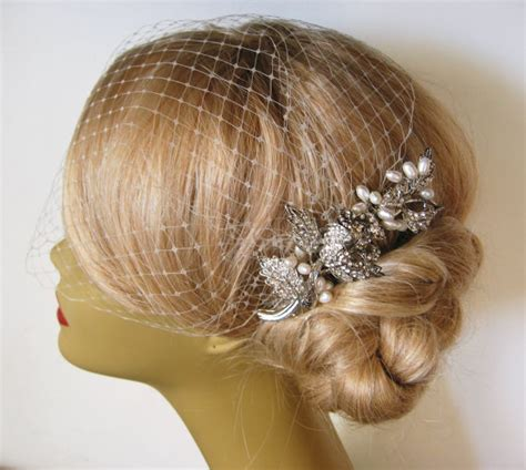 Wedding Hair With Veil And Comb by Bridal Veil And Bridal Comb 2 Itemsbridal Hair Comb