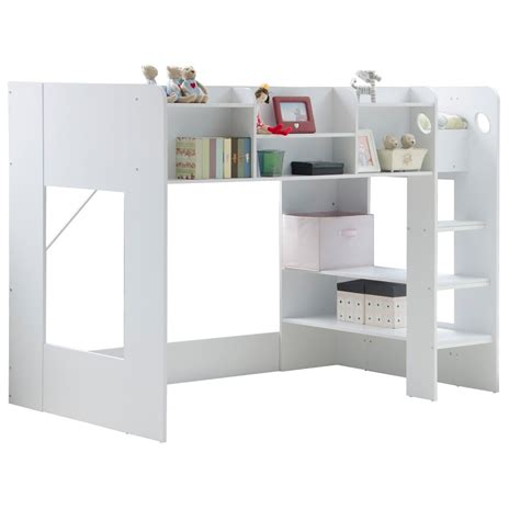 Childrens High Sleeper by Wizard High Sleeper Bed In White Beds Cuckooland