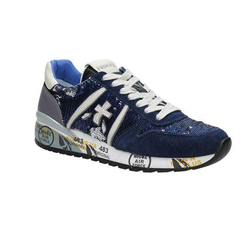 premiata sneakers paillettes blu aversa shoes srl