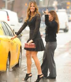 High Heels Original Blackkelly 133 real bensimon defies the weather in skirt and high heels daily