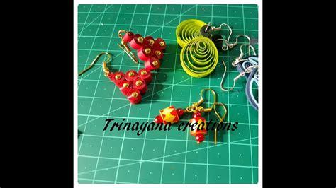 Quilling Tutorial In Telugu | easy quilled earrings tutorial quilling paper diy youtube