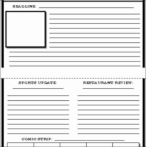 10 Blank Newspaper Template Sletemplatess Newspaper Template Cyberuse
