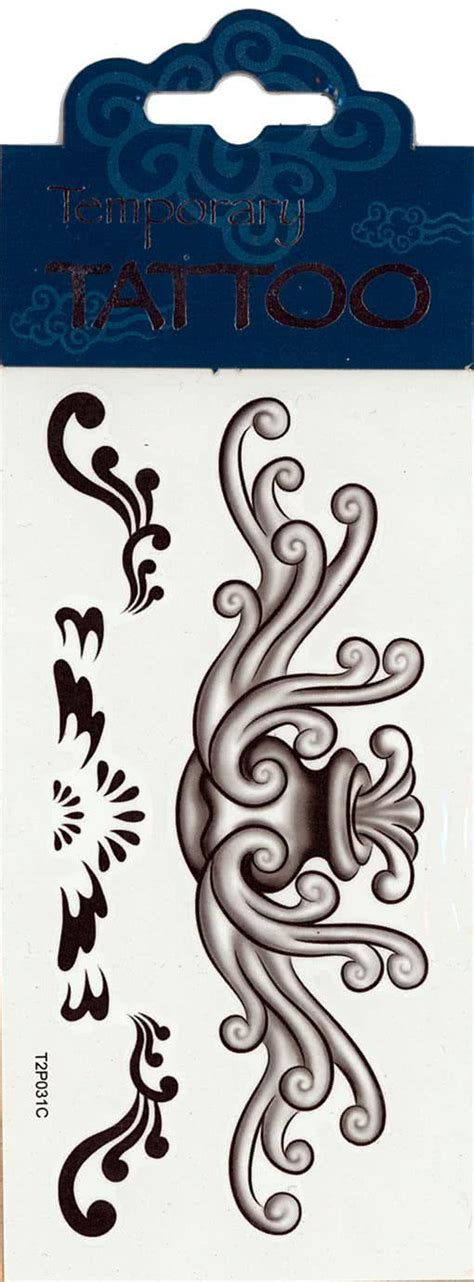 Tribal Tattoo Zum Aufkleben   fl 252 gel tattoo water fountain tribal tattoo zum aufkleben