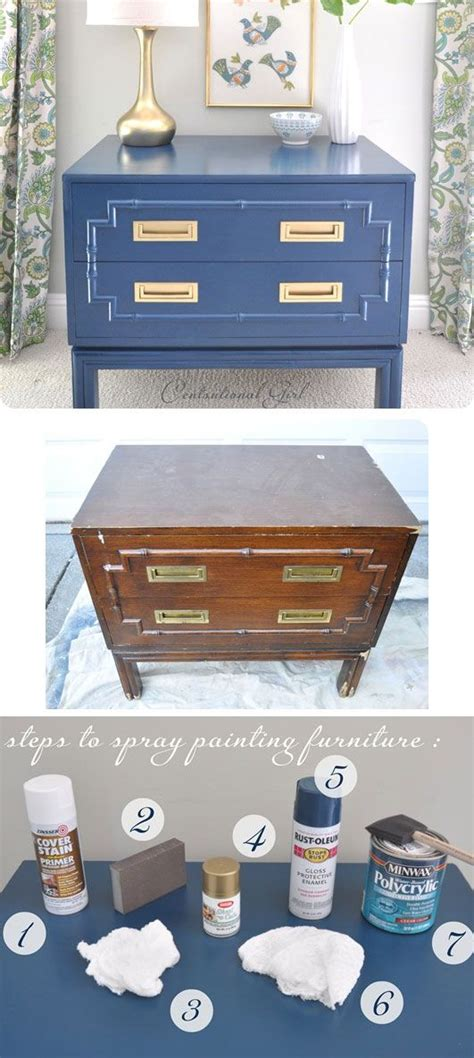 diy spray painting furniture step by step