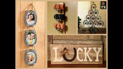 lucky horseshoe craft ideas recycled home decor attachment