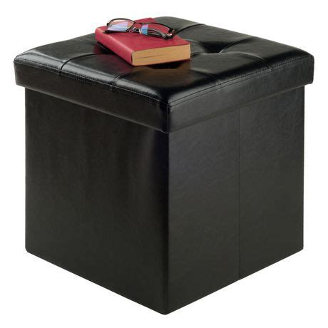 faux leather ottoman with storage winsome ashford faux leather ottoman with storage