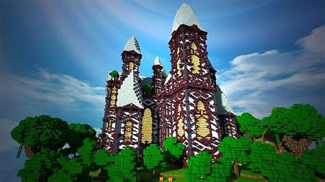 marvelous Tips For Building A House #4: cliff-mansion-minecraft-building-ideas-5.jpg