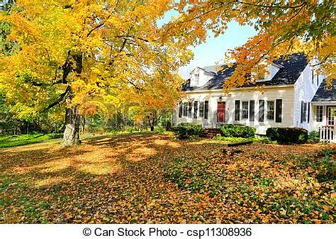 House Plans New England Stock Photos Of Classic New England American House