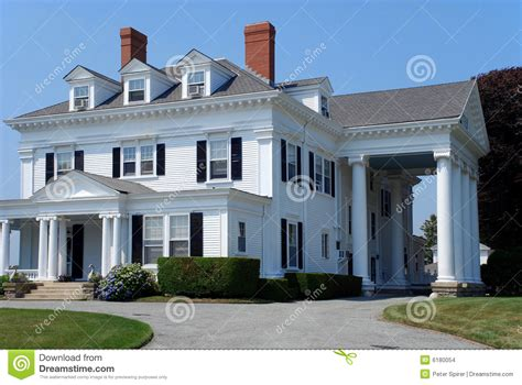 house with columns large white house with columns stock images image 6180054