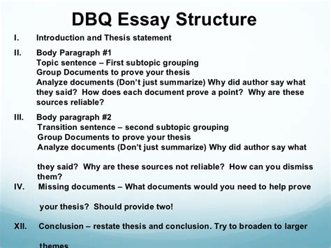 How To Write A Dbq Essay by Middle Ages Dbq
