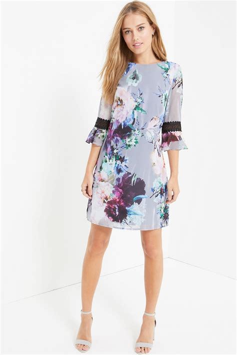 Print Shift Dress floral print shift dress from uk