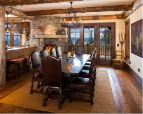Dining Room With Corner Fireplace Large Dining Room Design Ideas Renovations Photos With
