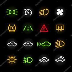 beleuchtung symbole auto auto armaturenbrett symbole stockvektor 169 alhovik 69936029