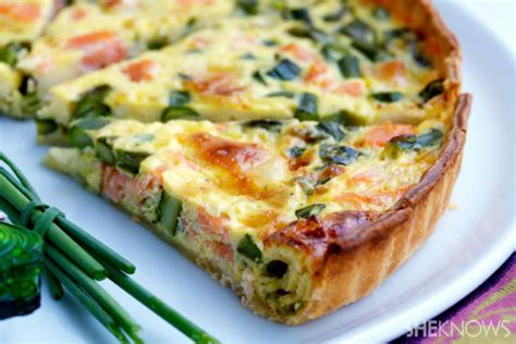 French Country Chicken Recipe - salmon asparagus amp brie quiche