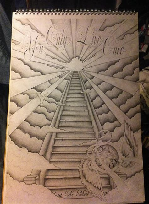 stairway to heaven tattoo designs stairway to heaven back