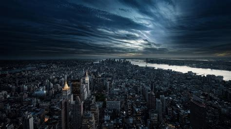 wallpaper hd view city aerial view night download hd wallpapers