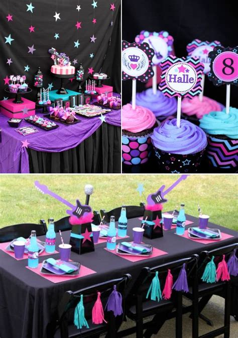 girl dance themes girly rock star dance pink birthday party planning ideas