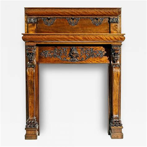 carved fireplace mantels a magnificent antique carved fireplace mantel