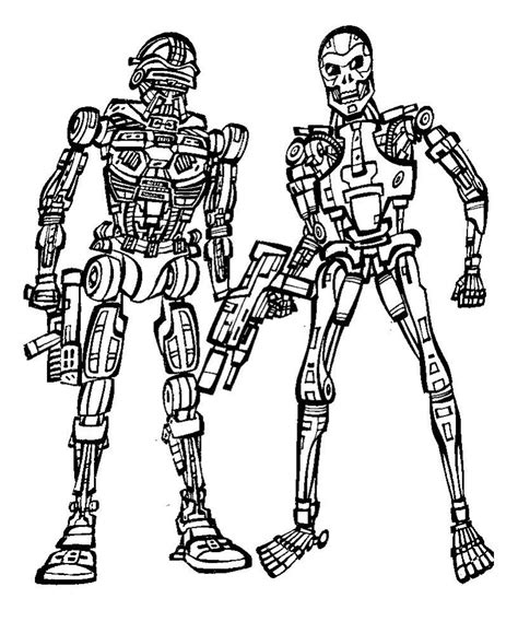 coloring pages terminator