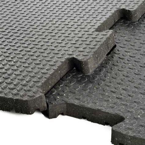3/4 Inch Rubber Flooring   2x2 ft Interlocking Tiles, Gym
