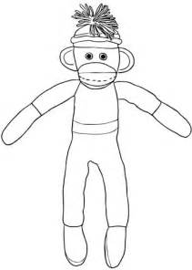 christmas sock monkey coloring page supercoloring com