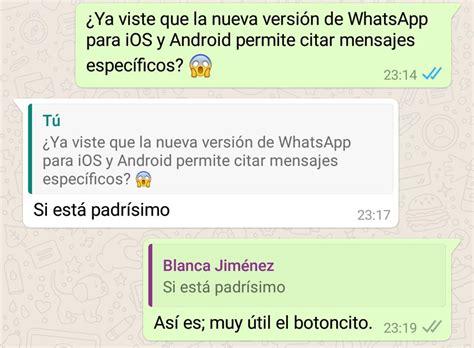 lineamientos especificos para el otorgamiento y aplicacion 2016 whatsapp permite citar para responder mensajes en un grupo