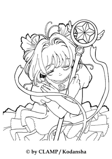 sakura the card captor coloring pages hellokids com