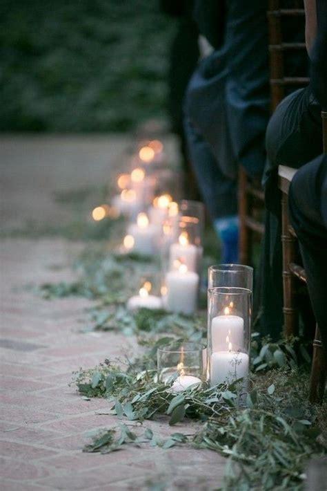 minimalist outdoor wedding aisle decor ideas   puff