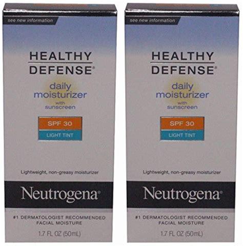 neutrogena healthy defense moisturizer light tint neutrogena healthy defense daily moisturizer spf 30