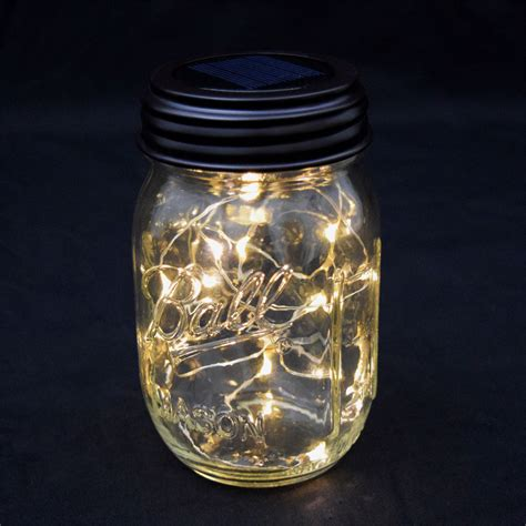 Fairy Lights Led Mason Jar Lid Solar Powered Lights In Jars