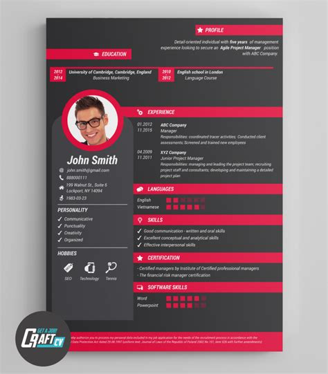 Original Cv Template by Creative Cv Exle Original Cv Design Resume Template