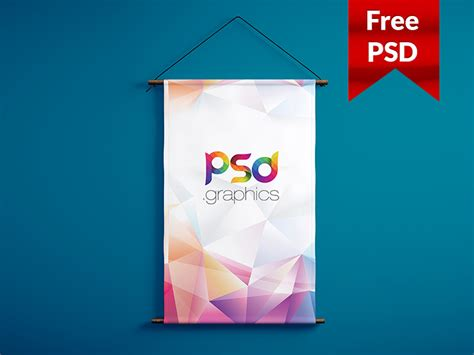 free banner templates psd wall hanging banner mockup free psd by psd graphics dribbble