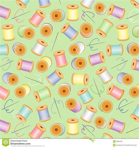 sewing pattern wallpaper needles threads seamless pastels green bg royalty free