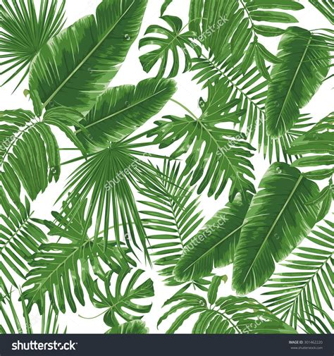 jungle pattern vector stock vector tropical leaves dense jungle seamless