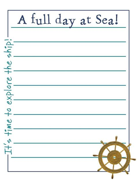 printable disney journal pages 17 best images about disney cruise 2015 on pinterest