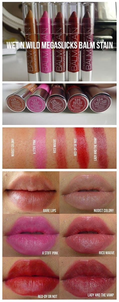 N Megaslick Balm Stain n stains and swatch on