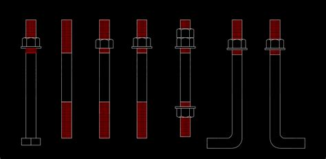 J Bolt Drawing by Anchor Bolts 2d Software Plugins For Cad