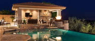 Pool And Outdoor Kitchen Designs phoenix landscaping design amp pool builders pool remodeling unique