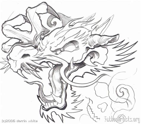dragon tattoo outline designs drawing artists org