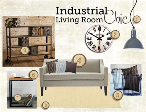Living Room Industrial Style by Industrial Chic Living Room Style Board Inspiration