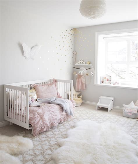 room for girl ella s soft pink and gold toddler room winter daisy