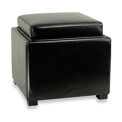 Buy Safavieh Hudson Leather Tray Ottoman In Black From Bed Bath Beyond Buy Safavieh Hudson Leather Storage Ottoman In Black From Bed Bath Beyond