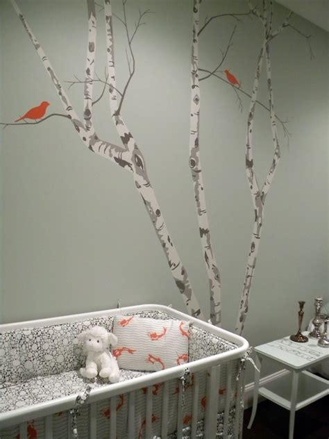 tree stencil for wall mural tree wall stencil contemporary nursery color theory boston