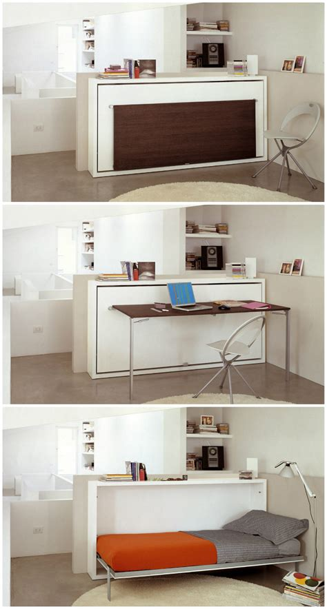 space saving desk bed 10 great space saving beds living in a shoebox