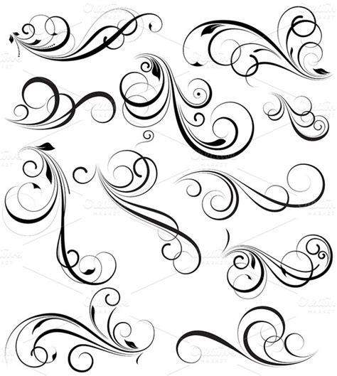 swirl pattern tattoo designs swirly flower patterns 187 designtube creative design content