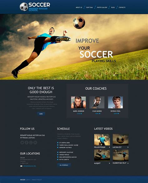 themes wordpress soccer soccer responsive wordpress theme 45268