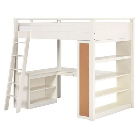 pottery barn loft bed with desk sleep study 174 loft pbteen