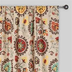 Patterned Kitchen Curtains Gold And Suzani Cotton Curtains Set Of 2 World Market