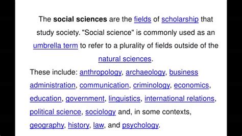 meaning of science definition of social science